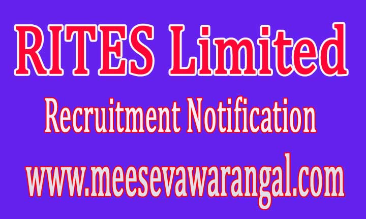RITES Limited Recruitment Notification 2016
