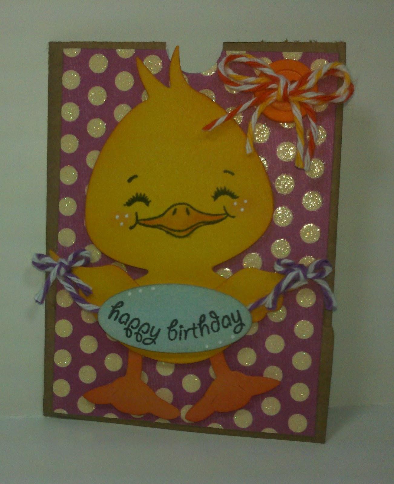 DeeGee Scraps: Happy Birthday Gift Card Holder