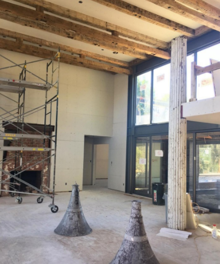 Modern farmhouse under construction by Giannetti Home - found on Hello Lovely Studio