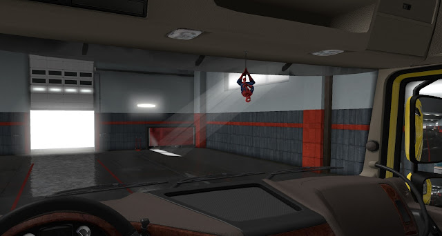 ets 2 ij's air fresheners & hanging toys screenshots 2, spider-man cabin accessory