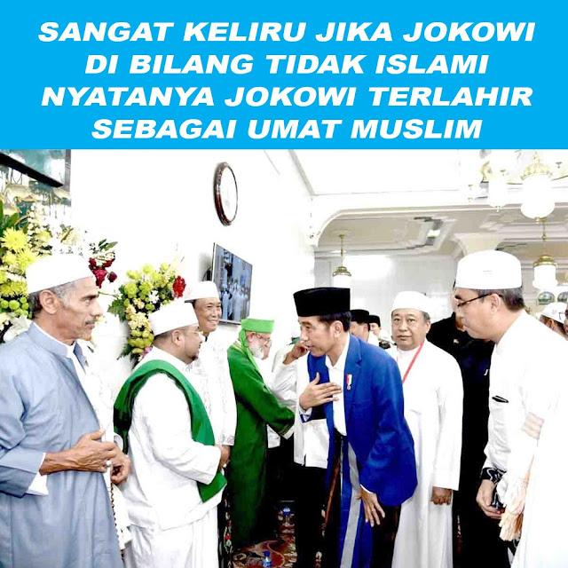 Nyatanya Jokowi Terlahir Sebagai Umat Muslim