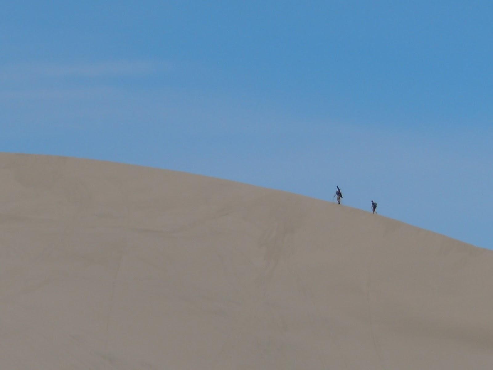 Skiing St. Anthony Sand Dunes, Idaho