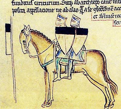 Templari Beauceant miniatura