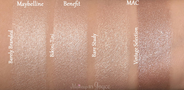 Mac Vintage Selection Paint Pot Bare Study Swatches
