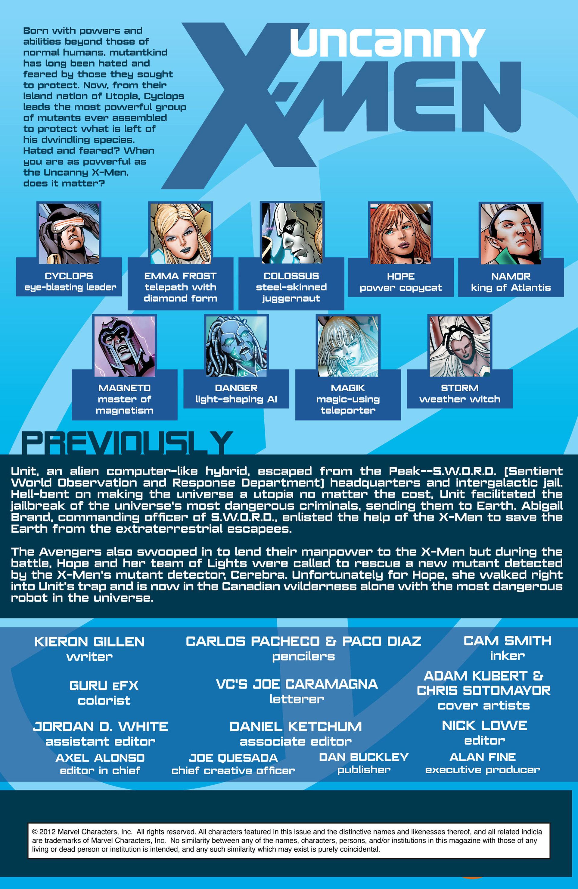 Read online Uncanny X-Men (2012) comic -  Issue #10 - 2