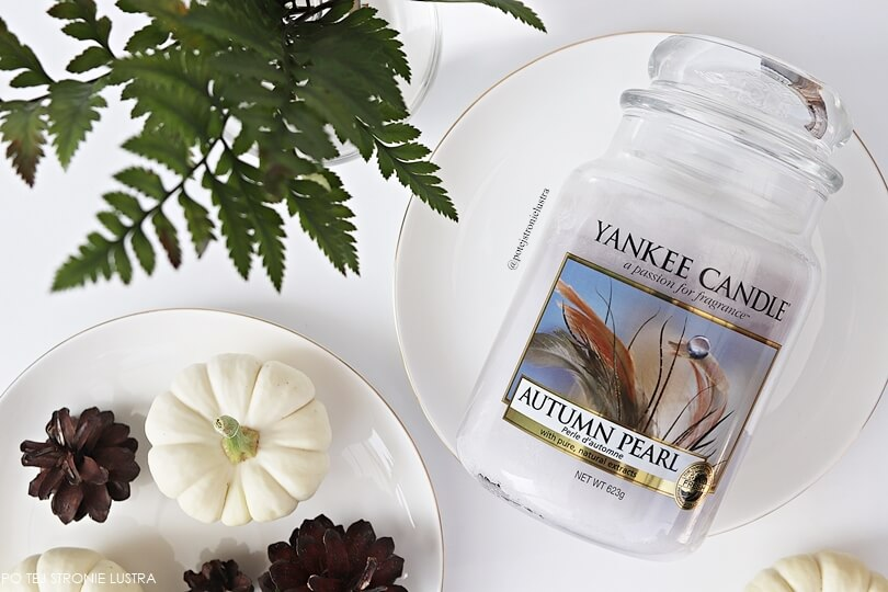 duża świeca yankee candle autumn pearl