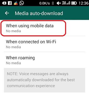 Menghentikan download otomatis