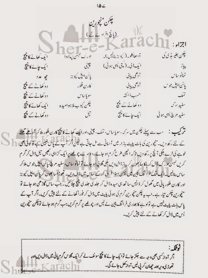 Chicken Manchurian Recipes | Shehar-e-Karachi: Urdu Column ...
