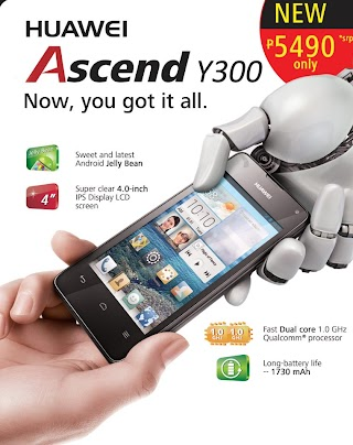 Huawei Latest Device 'Ascend Y300' Now Available in Philippines for the Price of P5490