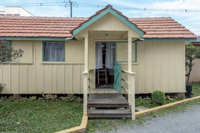 Vagão do Armistício - detalhe da entrada principal com varanda