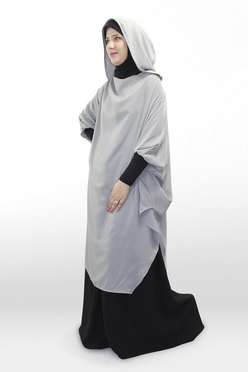 paduan jilbab gamis hitam tunik lebaran cantik dan manis OOTD