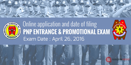 April 2016 Napolcom PNP Entrance and Promotional Exam Schedule