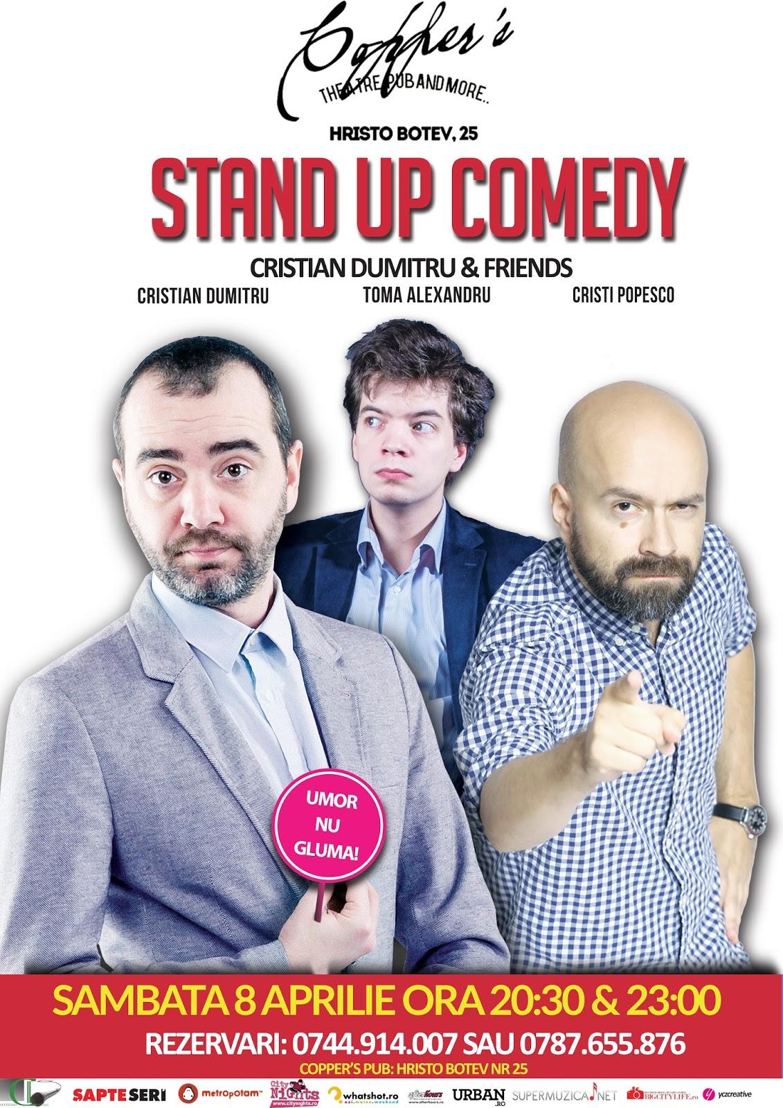 Stand-up Comedy Sambata 8 aprilie Bucuresti
