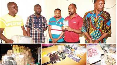 NAFDAC Apprehends Producers of Fake Peak Milk and Water for Injection (Photos)