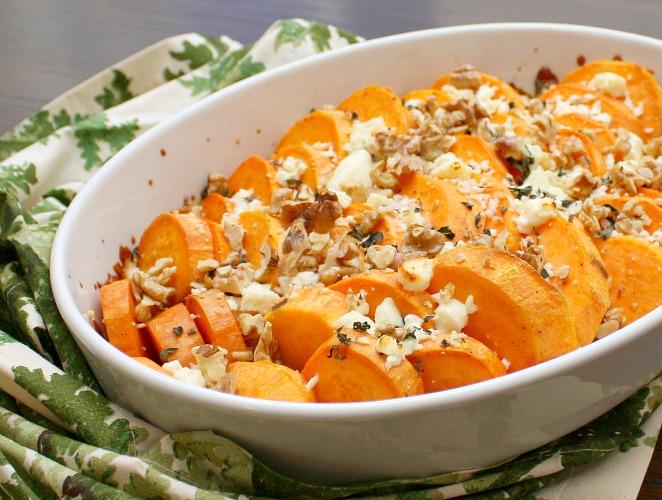 sweet potatoes with feta