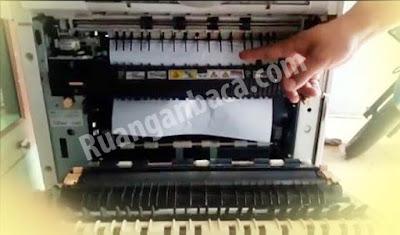 Memperbaiki kertas selalu nyangkut di pemanas mesin fotocopy canon ir4570