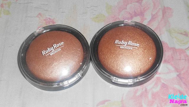 Bronzer/Iluminador da Ruby Rose - Cor 3 e 5