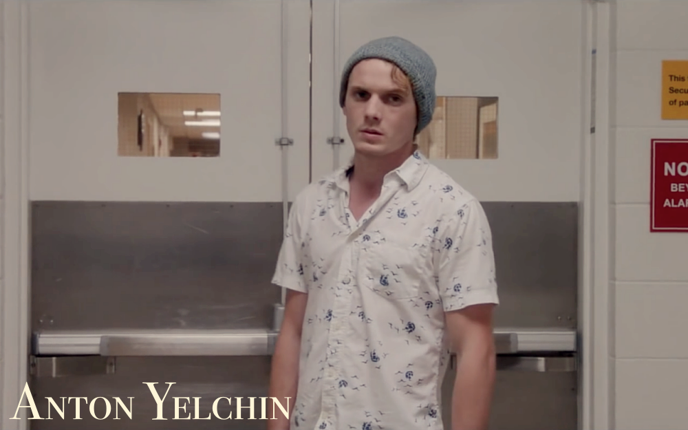 """Wir gehören nicht hierher"" - ""We don't belong here"" - Screen capture Anton Yelchin"