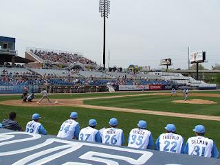 First pitch, Dash vs. Blue Rocks