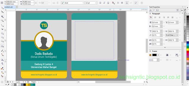 Membuat ID Card Menggunakan CorelDraw 20