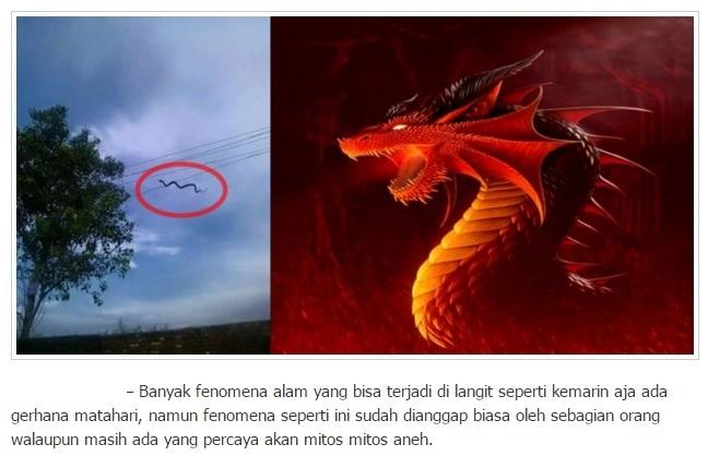 Warga Geger Lihat Foto ini, Diduga yang Lagi Terbang adalah Naga