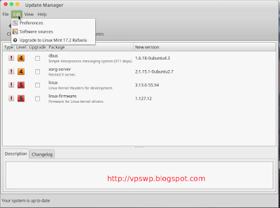 Upgrade Linux Mint 17.2 Rafaela