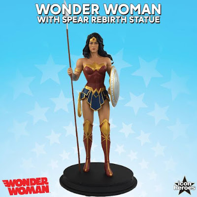 San Diego Comic-Con 2017 Exclusive DC Comics Rebirth Wonder Woman with Spear Statue by Icon Heroes