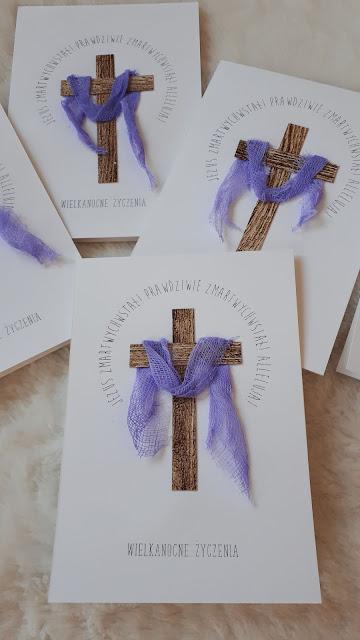 Kartka wielkanocna z krzyżem