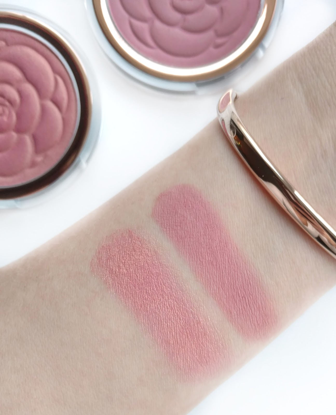 flower beauty flower pots blush swatches