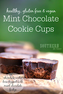 Healthy Gluten Free Mint Chocolate Cookie Cups Recipe