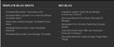 widget postingan perlabel di blog dengan feed