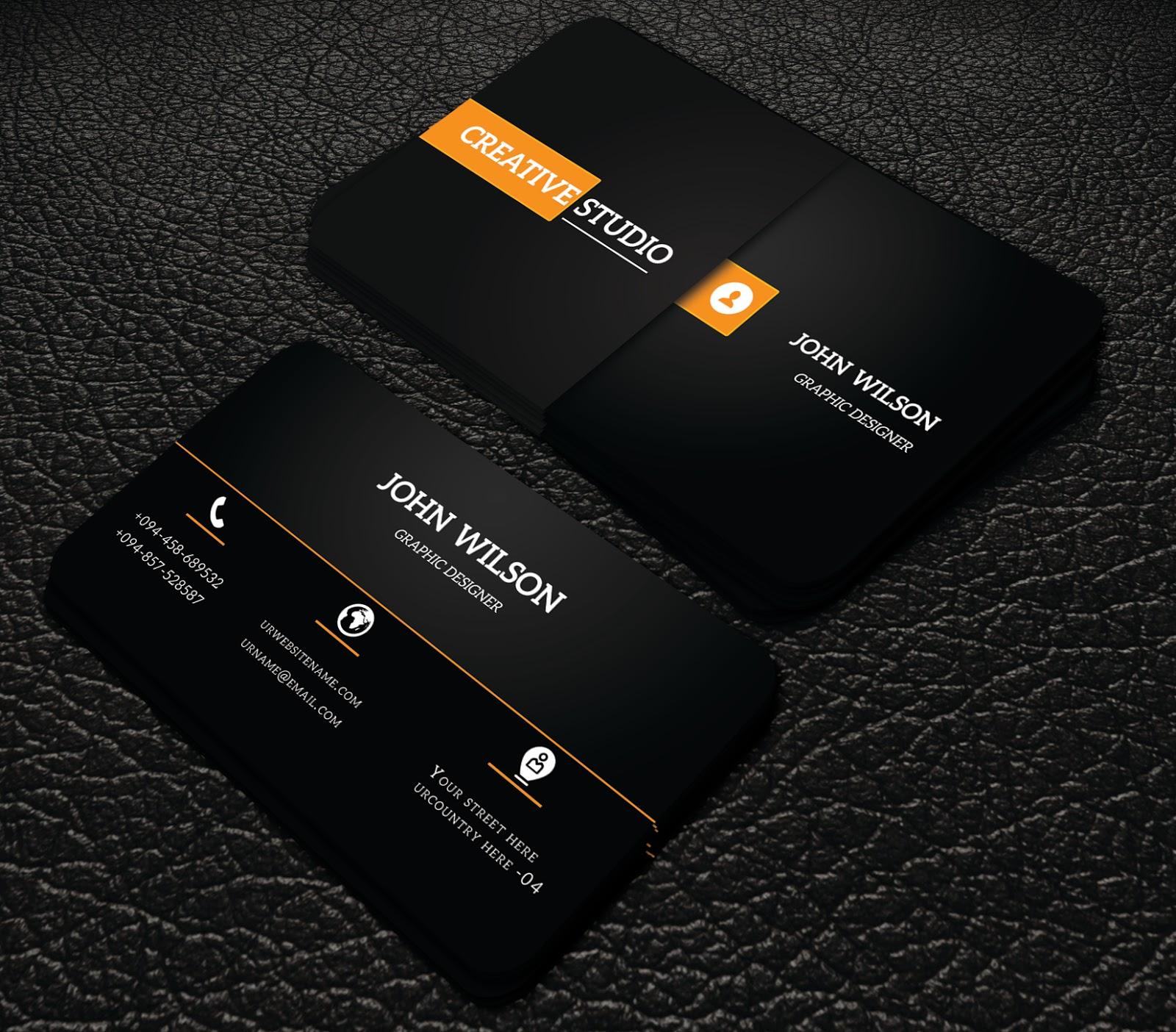 black colour simple business cards   professional business card ...