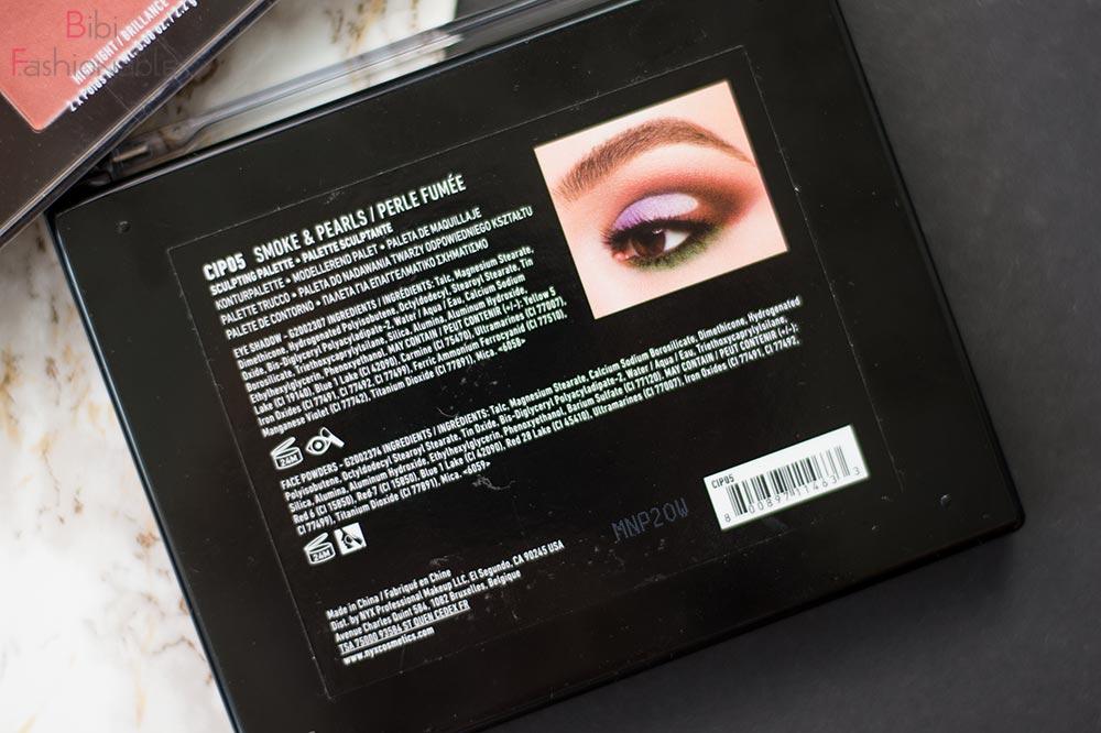 Contour Intuitive Eye & Face Sculpting Palette Smoke & Pearls Rückseite