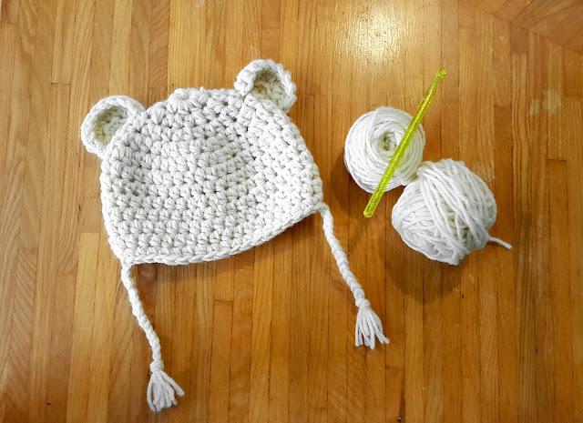 patron bonnet bébé ourson