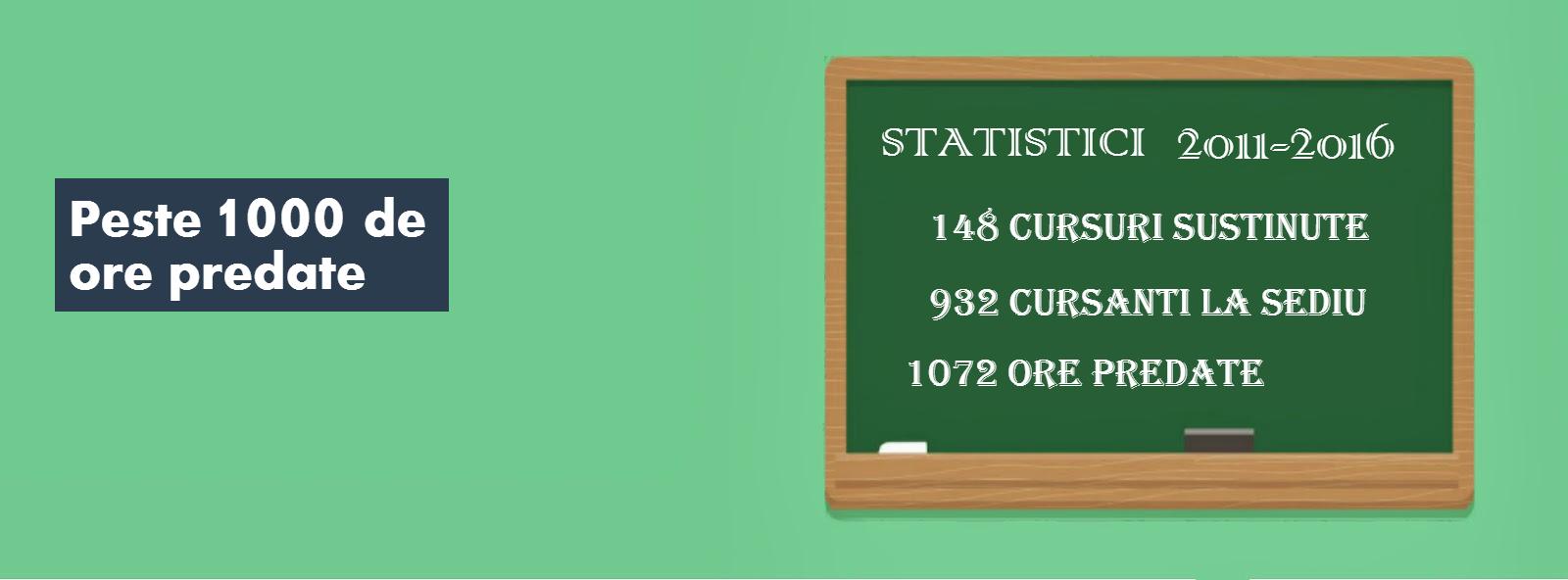 Statistici cursuri
