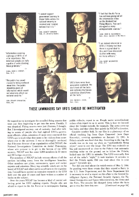 U.S. Air Force Censorship of The UFO Sightings (Pg 3) - True Magazine Jan 1965