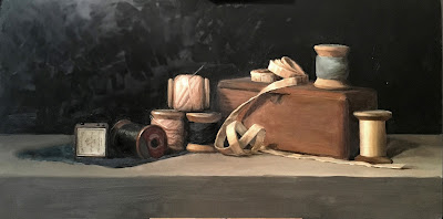 first pass of color, still life, oil painting