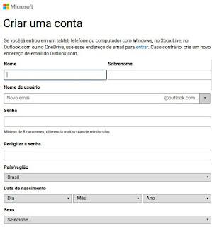 Como criar uma conta de E-mail Live.com