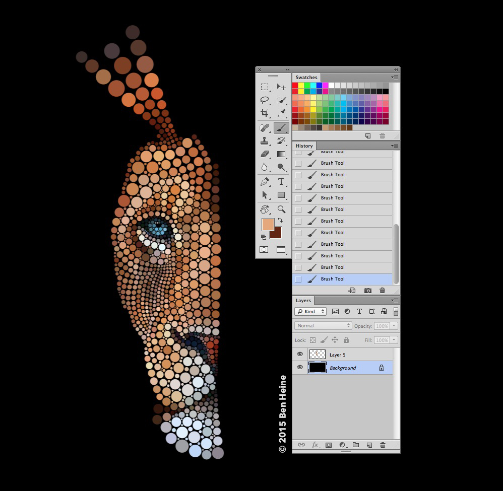 Digital Circlism by Ben Heine - Work in progress