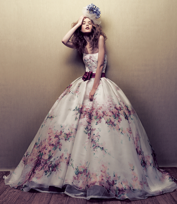 Me Mine and I Unique Floral Print Wedding Dresses