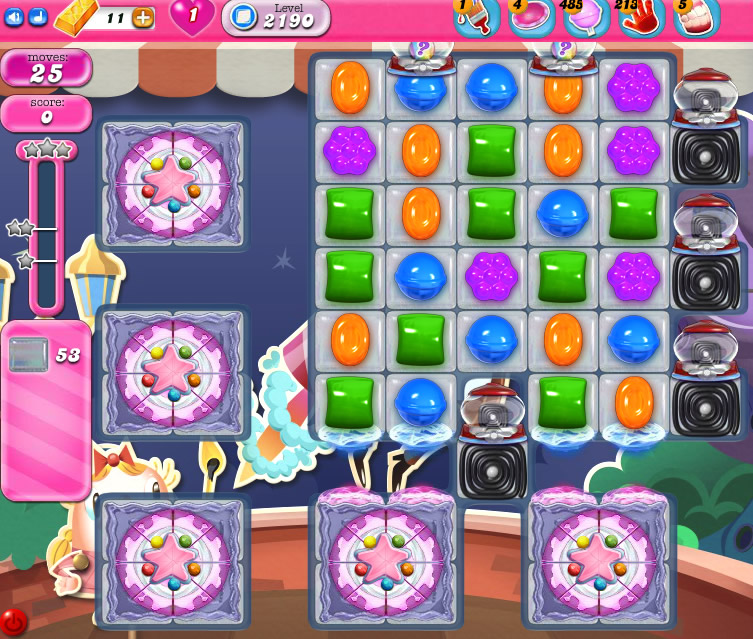 Candy Crush Saga level 2190