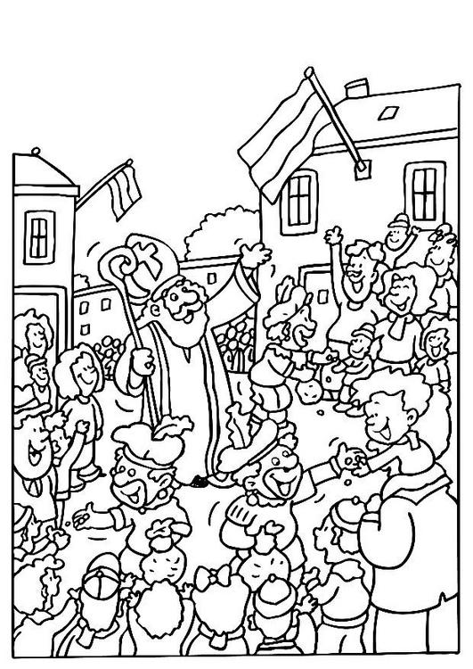 Uitzonderlijk Onderwijs en zo voort ..: 1842.Sinterklaas kleurplaten  RK02