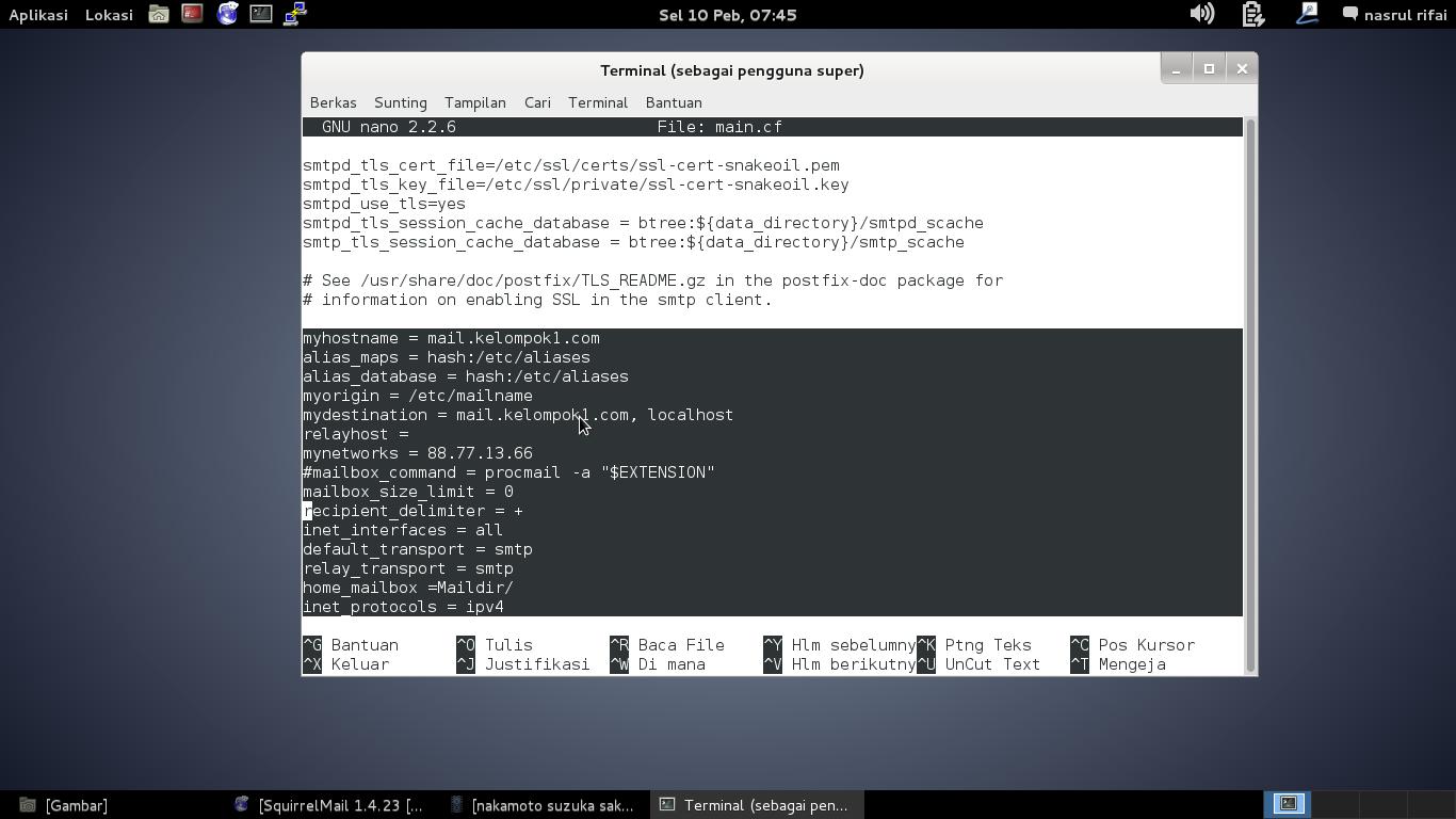 Setting Mail Server Linux Debain 7 Dengan Gambar