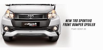 rush-trd front bumper spoiler