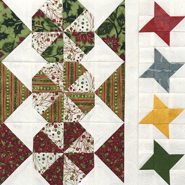 A Scrappy Happy Holidays Mystery Sew Along - Month 2 - Peppermint Candies & Twinkle Stars Block by Thistle Thicket Studio. www.thistlethicketstudio.com