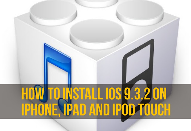 It's a really simple and different method for installing iOS 9.3.2 firmware on iPhone, iPad and iPod touch.