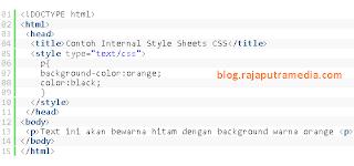 cara menggunakan CSS pada kode HTML