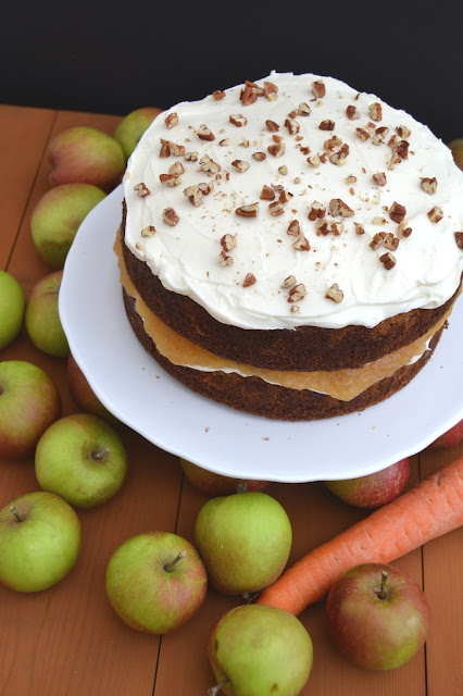 Carrot and apple cake