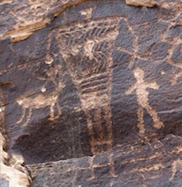 A Giant Depicted In Rock Art, Canyon Ranch - Arizona