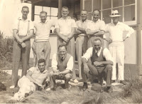 Nine men posing for a photograph Otautau